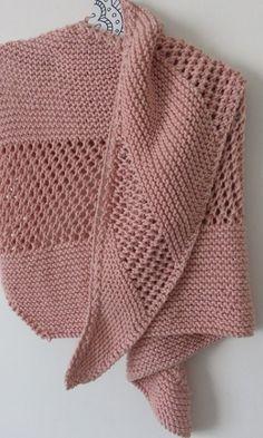 3689d3c4f468 Mon châle rose Modèle De Gilet, Tricot Femme, Couture Tricot, Apprendre