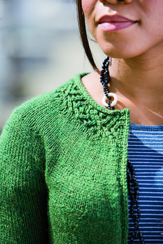 Nice lace edge - top down - cardigan - in knit picks catalog and ravelry