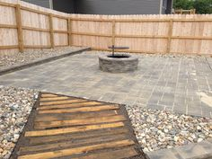 Pallet walk way and patio with fire pit