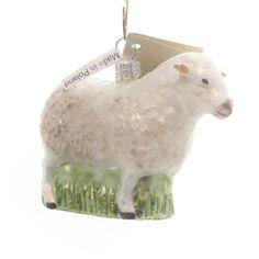 Sheep Glass Ornament