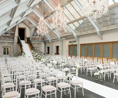 Botleys Mansion Wedding Venue In Surrey Set Up For A Ceremony Chwv Venues