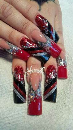 Red , Silver & Black
