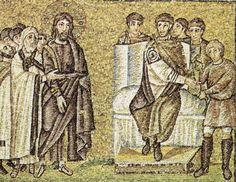 Basilica di Sant'Apollinare Nuovo, Ravenna. Mosaici dell'inizio del VI secolo. Teodorico