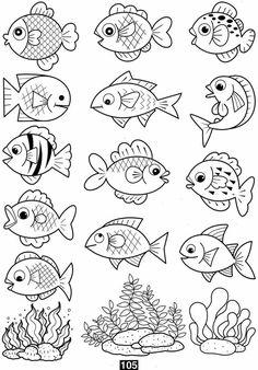 coloring pages coloring pages for kids coloring pages free printable kindergarten - Art interests Coloring Pages For Grown Ups, Fish Coloring Page, Free Adult Coloring Pages, Coloring Pages To Print, Free Printable Coloring Pages, Coloring For Kids, Coloring Books, Coloring Sheets, Free Printables