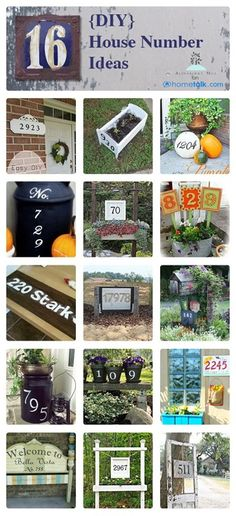 clever house number ideas - love these!!