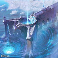 Garbrian Cistern ~ Faeria by saint-max on deviantART Fantasy Art Landscapes, Fantasy Landscape, St Max, Fantasy Weapons, Fantasy Inspiration, Environmental Art, Underwater, Character Art, Concept Art