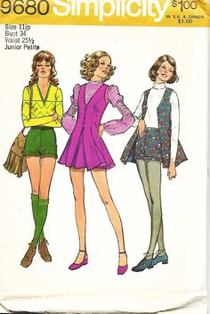 Simplicity 79680 Junior Petite Vest, Short Shorts And Short Flared Skirt Sewing Pattern, Size 11jp, UNCUT by DawnsDesignBoutique on Etsy