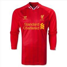 Liverpool Home Red Long Sleeve Soccer Jersey Shirt Liverpool Fc Shirt, Liverpool Home, Soccer Cleats, Soccer Players, World Soccer Shop, Online Sales, Red Shirt, Football Jerseys, Jersey Shirt