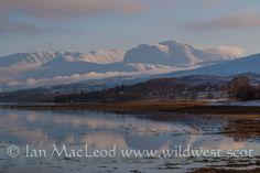 A wintry Ben Nevis from Loch Eil