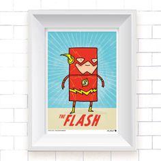 Flash Poster, Kutukafa Movie Collection (DC Comics, wall art, super hero, digital print, cute)