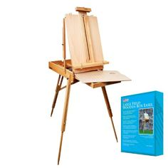 """US Art Supply Coronado Sonoma French Style Easel & Sketchbox with 12"""" Drawer, Wooden Pallete & Shoulder Strap - Unfolded Dimensions: 28 1/2"""" X 45"""" X 71"""""""