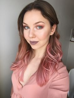 Dusty rose eye makeup to go with my new hair color. - Album on Imgur