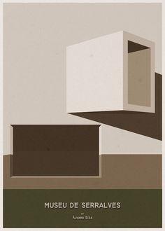 Museu de Serralves - Alvaro Siza - Striking Minimalist Posters Of Famous Buildings From Around The World