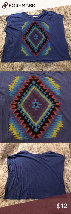 URBAN OUTFITTERS small crop top URBAN OUTFITTERS crop top with Aztec design. Size small Urban Outfitters Tops Crop Tops
