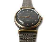 Rare watch Poljot, Soviet men's watch Poljot, watch Poljot 17 jewels, mechanical watch, steel wrist watch unisex, watch Kirov Poljot USSR  production of watches for the exp... #etsy #vintage #gift #nostalgishop