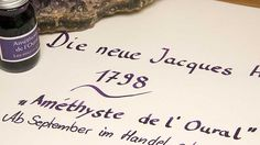 """Die neue Jacques Herbin 1798 """"Améthyste de l'Oural"""" - https://lineatur.expert/die-neue-jacques-herbin-1798-amethyste-de-loural/?utm_source=PN&utm_medium=Pinterest+Lineatur.Expert&utm_campaign=SNAP%2Bfrom%2Blineatur.expert"""