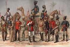 Sepoys of the Madras Army. When the East India Company ruled India, they did so with largely native soldiers, called 'sepoys'