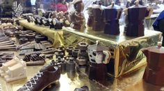 Different objects made by chocolate at at the Chocolate Festival in Chocolate Festival, Southern Italy, Objects, Decor, Decoration, Decorating, Dekorasyon, Dekoration, Home Accents