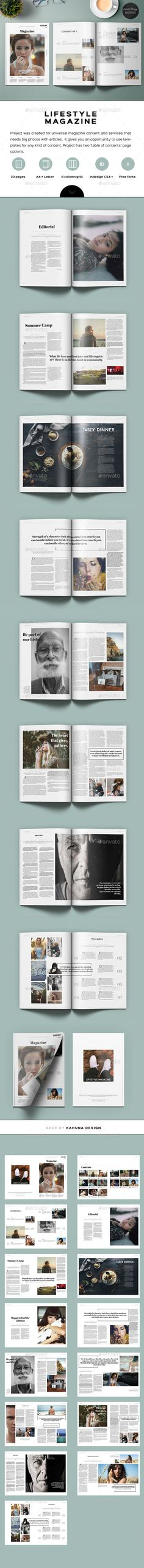 Lifestyle Universal Magazine — InDesign INDD #elegant #type • Available here → https://graphicriver.net/item/lifestyle-universal-magazine/14878763?ref=pxcr