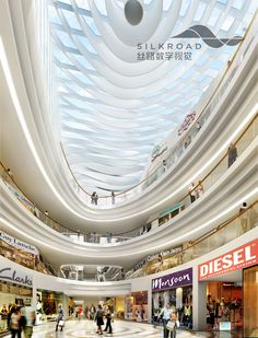 Shopping mall interior rendering from our company silkroad shopping mall interior, shopping malls, mall Shopping Mall Interior, Shopping Malls, Lacoste, Diesel, Atrium Design, Mall Design, Retail Design, Interior Rendering, Shop Window Displays