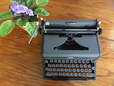 Royal Quiet Deluxe Manual Typewriter  Black and by MahoganyRhino