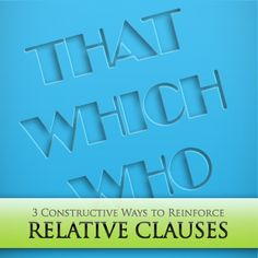 Relative clauses present a new, more complex way for students to express themselves. Examine these 3 constructive ways to reinforce relative clauses in writing and speaking, and your student Part Of Speech Grammar, Teaching Grammar, Parts Of Speech, Teaching Tips, Speech And Language, Relative Clauses, French Grammar, Read Aloud, Vocabulary