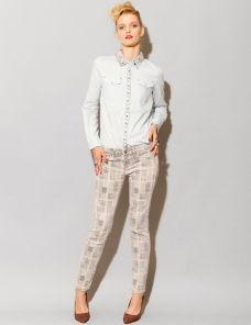 Sanded printed jeans  #EasyPin