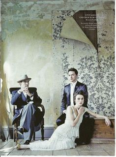Pictured to the left is Atonement director Joe Wright and the movie's stars Keira Knightley and James McAvoy at the Master Shipwright's House in London. This photo is featured in the December 2007 issue of Vanity Fair. Elizabeth Swann, Keira Christina Knightley, Keira Knightley, Movie Stars, Movie Tv, Ian Mcewan, James Mcavoy, Pride And Prejudice, Film Stills