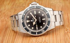 One Hot Vintage of the Week.  The Rolex Submariner 5513.  See More at: https://www.bobswatches.com/rolex-blog/rolex-info/vintage-week-rolex-submariner-5513.html