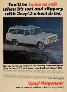 1965 Ad Kaiser Jeep Corp Wagoneer 4 Wheel Drive Car - ORIGINAL ADVERTISING TM6