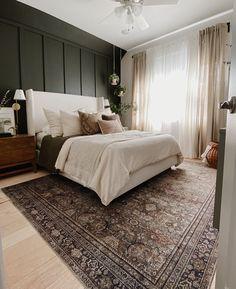 Dark Master Bedroom, Master Bedroom Layout, Bedroom Layouts, Dream Bedroom, Home Decor Bedroom, Interior Exterior, Interior Design, Bedroom Flooring, My New Room