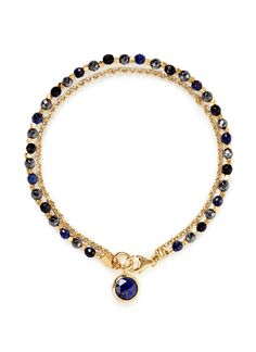 ASTLEY CLARKE - 'Be Very Mysterious' 18k gold lapis lazuli friendship bracelet   Lane Crawford
