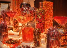 Fall Wedding Candy Table...Yummy!