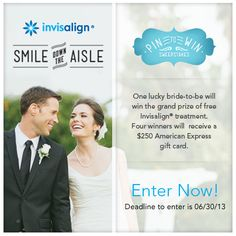#ad @Invisalign & #DavidTutera have teamed up! One bride wins a new smile, Four others win a $250 American Express gift card! Enter now: http://shout.lt/jq74 #sponsored