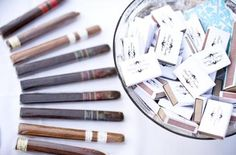 cigars and personalized matches