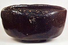 本阿弥光悦(1558-1637)作 黒楽茶碗 銘「雪沓」(個人蔵)