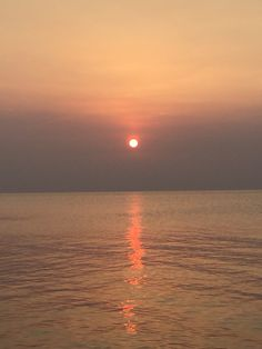 Tanganyka Lake, sunset seen from Gombe Park, February 2016