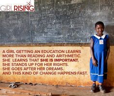 A girl getting an education means more than reading and arithmetic