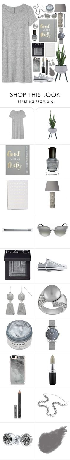 """Jenny"" by selkeysaynothing ❤ liked on Polyvore featuring Gap, Enchanté, Deborah Lippmann, Dar, Versace, NARS Cosmetics, Converse, Casetify, MAC Cosmetics and Burberry"