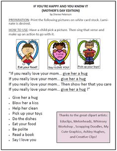 The Primary Pad: Mother's Day Primary Songs, Primary Singing Time, Lds Primary, Really Love You, Love You Mom, Primary Chorister, Hug You, Knowing You, Words