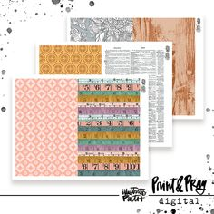 Wait Out the Wildnerness Patterned Paper Bundle - Illustrated Faith Create Page, Faith Bible, Illustrated Faith, Pep Talks, Pattern Paper, Paper Design, Scrapbook Paper, Ephemera, Wilderness