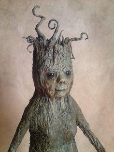 VénErable: sculpture d'une créature végétale en papier : Sculptures, gravures, statues par la-fee-buissonniere