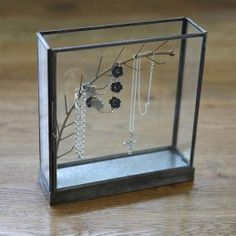 This jewellery monter is a visual treat. We love the simplicity of this clever little glass box. Beautiful and functional at Etico online.