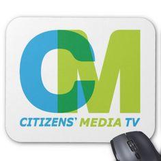 Citizens' Media TV Logo Mouse Pad  $11.60  by CitizensMediaTV  - cyo customize personalize diy idea