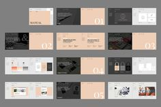Ad: Palermo Brand Manual by Studio Standard on This 24 page set of Indesign Brand Guidelines is the perfect way to present and add value to your branding projects. Print as a guide book Web Design, Page Design, Layout Design, Book Design, Creative Design, Brochure Design, Brochure Template, Branding Design, Creative Brochure
