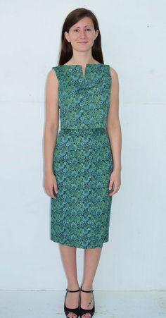 NOS Vintage 50's 60's JUNIORITE Blue Green Flower Skirt Top Dress Outfit  Small #juniorite