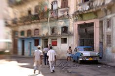 Havana Cuba Classic Car 8x12 ART Photo / . Pink streets / Blue Chevy / Classic Car Art Fine Art made with a lensbaby Photo Havana CUBA / ©LeeAnnGauthier on Etsy, All rights reserved. $30