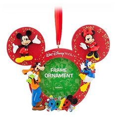 Disney Frames   Disney Christmas Frame Ornament - 2012 Mickey and Pals