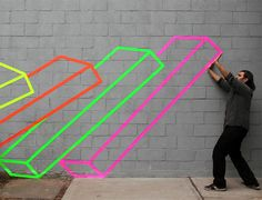 Aakash Nihalani creates  masking tape illusion –18 Pictures