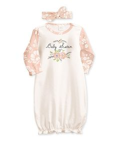 Look what I found on #zulily! Ivory & Primrose 'Baby Sister' Gown & Headband Set - Infant #zulilyfinds